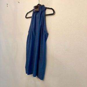 Nanette Lepore Dresses - Halter blue mini dress with pockets.